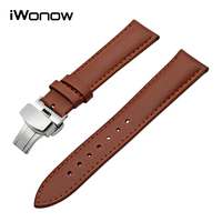 Genuine Leather Watchband For Seiko Citizen Casio Tissot Hamilton Watch Band Stainless Steel Buckle Wrist Strap