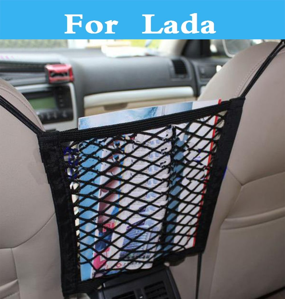 Car Back Seat Mesh Storage Bag Auto Net Organizer for Bag Luggage For Lada 2105 2106 2107 2109 2110 2112 <font><b>2113</b></font> 2114 2115 1111 Oka image
