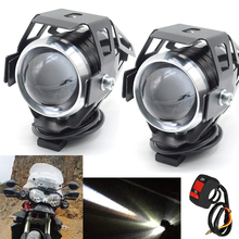 1 pair 125 W motorcycle rcycle auxiliary light bulb Super bright U5 LED lighthouse moto driving fog car