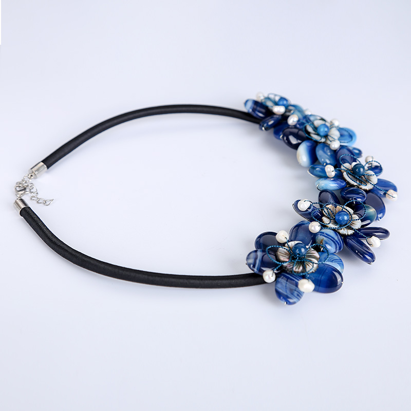 JIUDUO Pure natural pearl ladies dark blue necklace female jewelry accessories for mother gift preferredJIUDUO Pure natural pearl ladies dark blue necklace female jewelry accessories for mother gift preferred