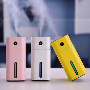 Image 3 - GIAHOL 180ml Mini humidificateur dair à ultrasons portable USB Super muet diffuseur darôme voiture maison assainisseur dair avec veilleuse LED