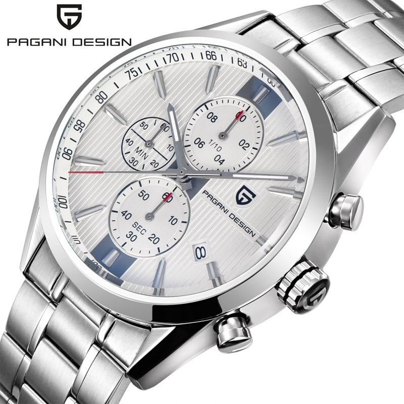 Marque de luxe PAGANI CONCEPTION Chronographe D'affaires Montres Hommes Étanche 30 m Japonais Mouvement Quartz Montre Horloge Hommes reloj hombre