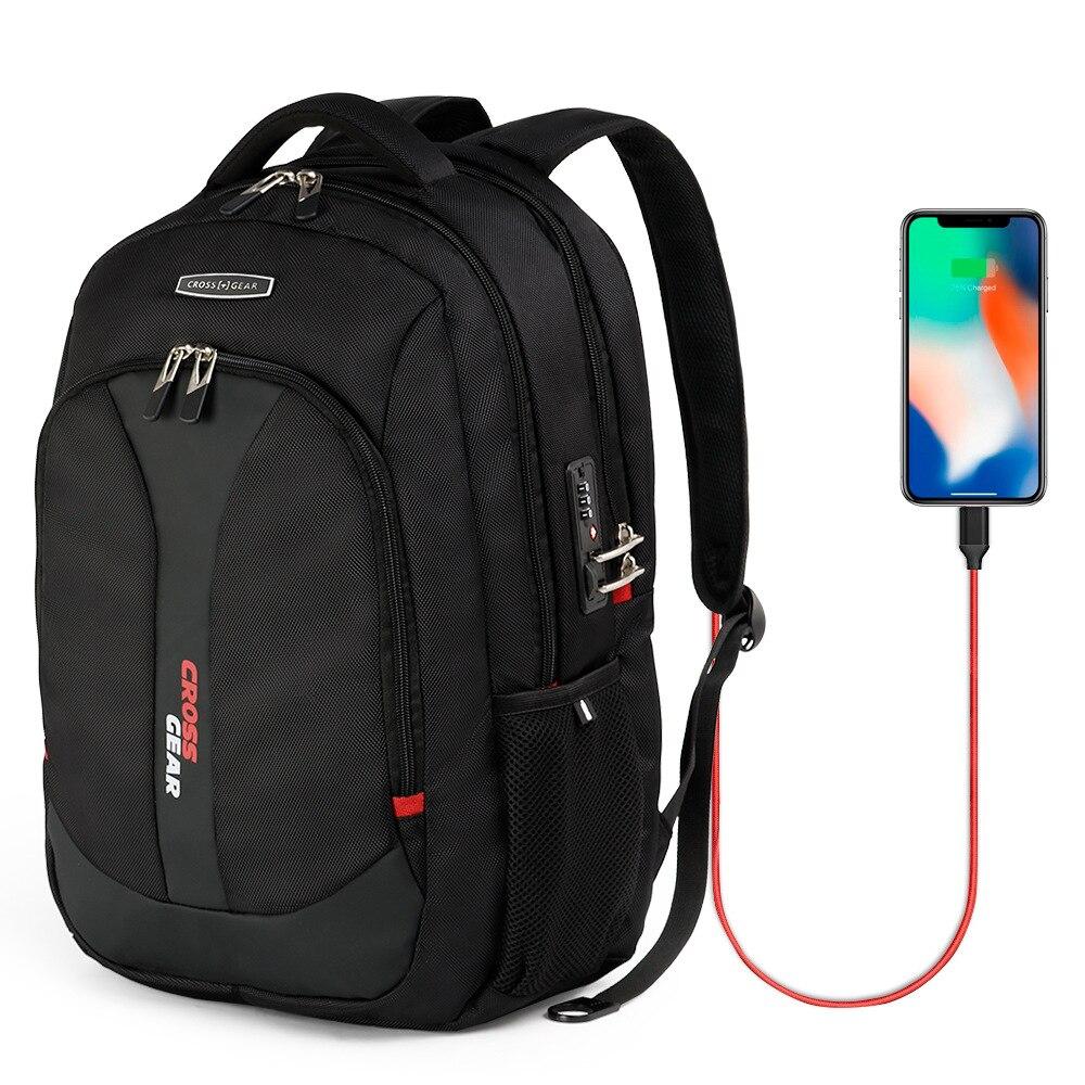 Suisse usb sac à dos pour ordinateur portable pour homme pour 17 pouces sac d'ordinateur mâle sac à dos multifonctionnel Sac À Dos Homme Sac À Dos Femme Sac à L'école