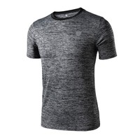 Quick Dry Sports Men Athletic Apparel Sport T Shirt Fitness Running Gym Training Short Sleeve Tops