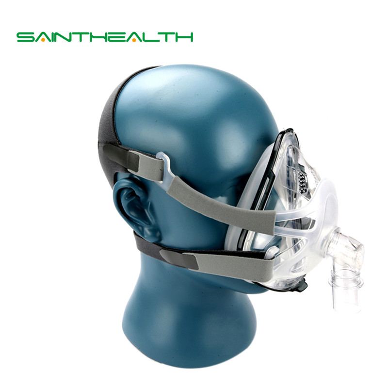 F1A Full Face Mask 03 With Headgear For CPAP Machine Sleep Health Care Size SML Snoring Therapy Interface Hose Carrying Bag