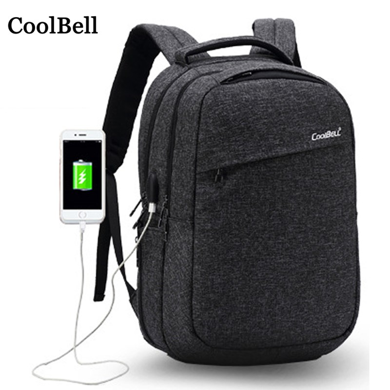 USB Charging Waterproof Shoulders backpack For Macbook Xiaomi Dell Lenovo ASUS 14 15 15.6 Laptop bag Women men Notebook Handbag