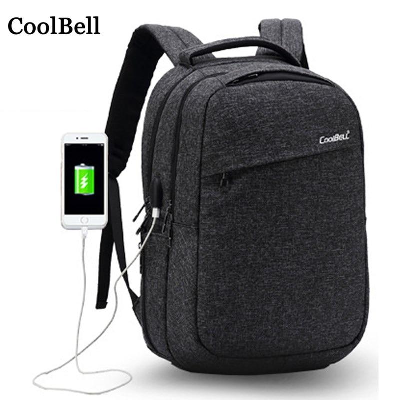 USB Charging Waterproof Shoulders backpack For Macbook Xiaomi Dell Lenovo ASUS 1