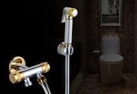 Brass Toilet Shower Spray Set and 1.5m Stainless Steel Flexible Hose Bathroom accessories Shower valves KF639