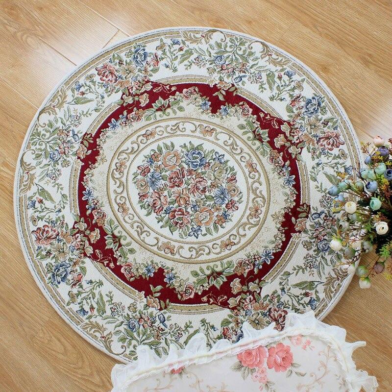 100 cm diamètre tapis rond Style américain tapis moderne tapis pour salon tapis grande zone rouge tapis chambre tapis tapis Tapetes
