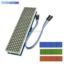 MAX7219 LED mikrokontrolera 4 w 1 wyświetlacz z linią 5P Dot moduł macierzy 5V napięcie robocze dla Arduino 8x8 matryca punktowa wspólne