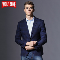 Limited Brand Casual Slim Fit Blazer Men Clothing Masculino Autumn Mens Jacket Winter Suit Single Button