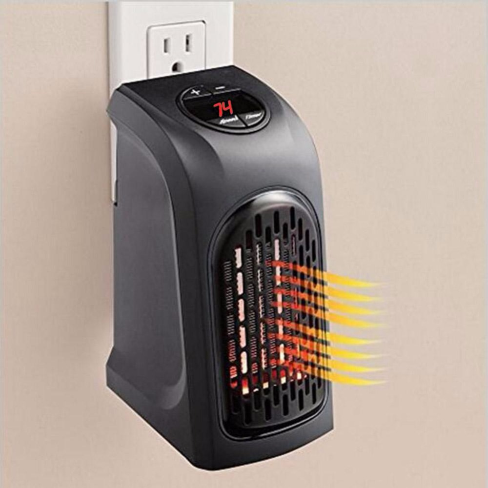 400W Electric Home Handy Mini Air Heater Fan Desktop Heating Stove Radiator Warmer Machine Wall-Outlet Heater for Winter Room