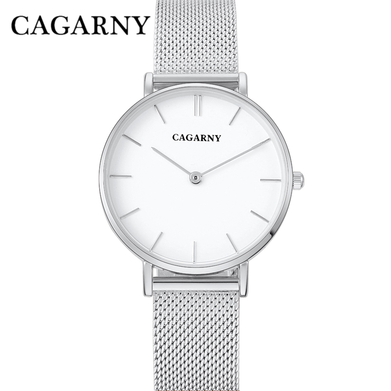 dw style cagarny stainless steel mesh watchband quartz watch for women fashion watches (8)