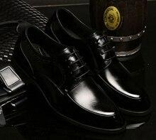 2015 Fashion New Men Leather Shoes Men's Casual Shoes Wedding Shoes Dress Shoes Black
