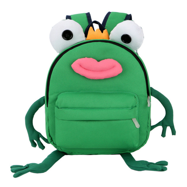New Fashion Kindergarten School Backpack animal style school bag cute Small  frog backpack children schoolbags for b0f9239296a86