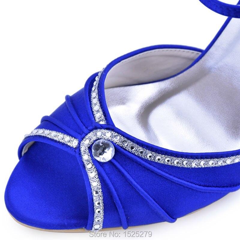 984c4d630 Aliexpress.com   Buy EL 033 Teal Navy Blue Women Bride Bridesmaids Open Toe  Bridal Party Sandal Rhinestones High Heels Satin Wedding Evening Shoes from  ...