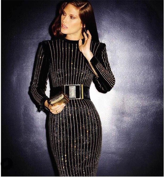 Aliexpress Buy Black Color Ladies Long Sleeve Mid Calf Sexy