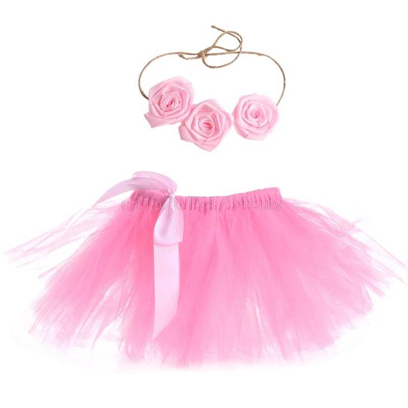 Baby Girls Tutu Skirt Hairband Photo Prop Costume Outfit Lovely #h055#