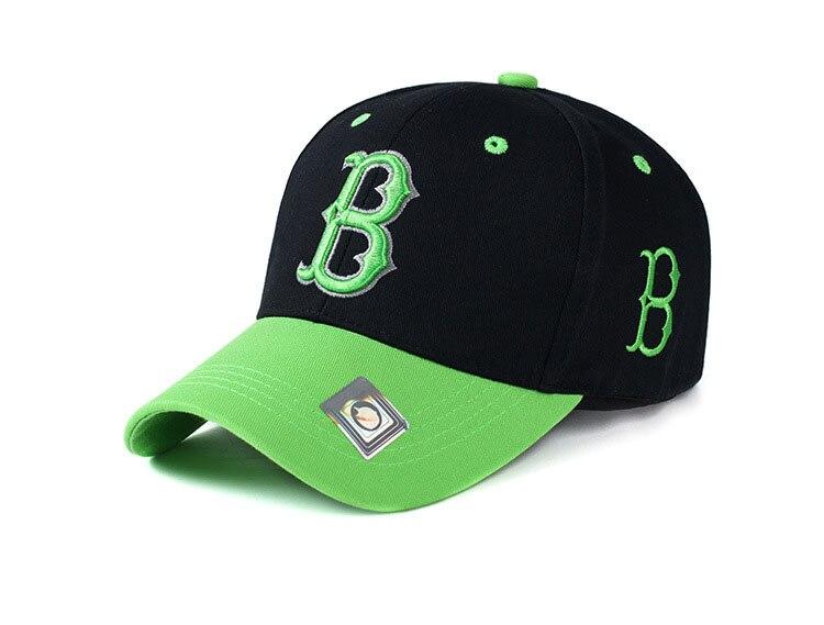 Prix pour Lettre B Réglable Boston Cap Hommes Femmes Sports de Plein Air Rouge Sox Chapeau Solide Mode Snapback Casual Gorras Hip Hop Baseball Cap