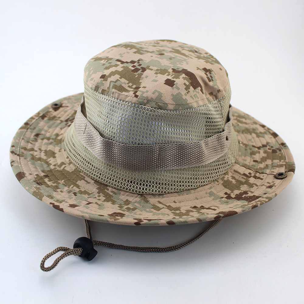 fc07b462841 New Military Camouflage Vent Bucket Hats Sunscreen Mesh Hats ...
