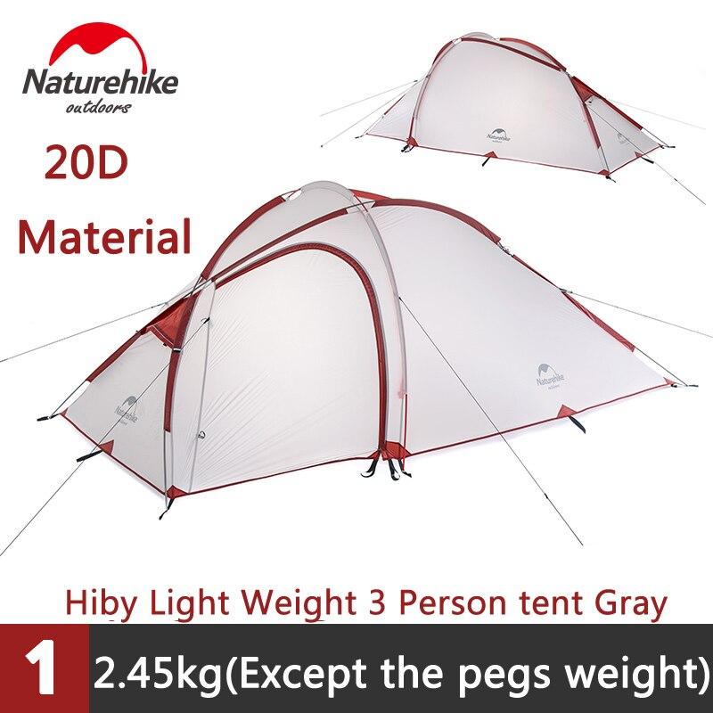 Naturehike 210T és 20D szilikon 2-3 személy 1 hálószoba és 1 - Kemping és túrázás