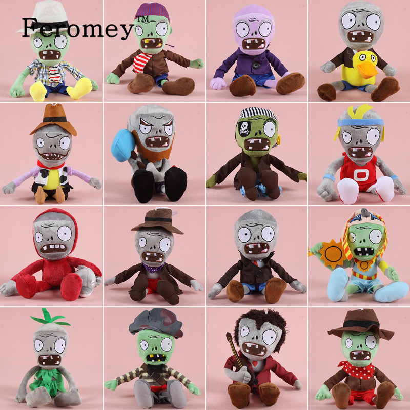 New Arrival Plants VS Zombies Plush Doll Toys Kawaii Plants vs Zombie Soft Stuffed Toys for Children Kids 30cm