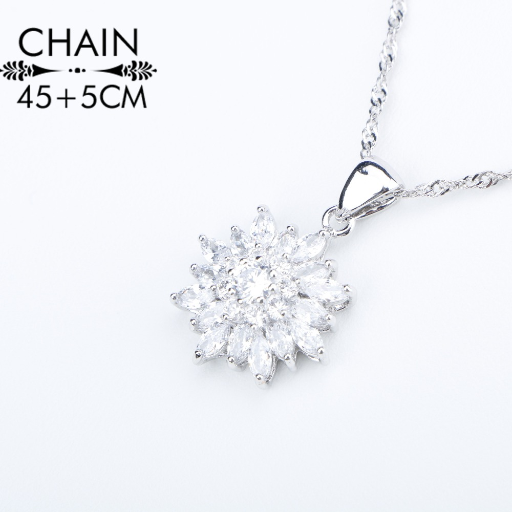 Image 4 - Natural White Zirconia Silver 925 Women Bridal Jewelry Sets Bracelets Rings Earrings With Stones Pendant&Necklace Set Gift Boxjewelry set 925jewelry setsset 925 -