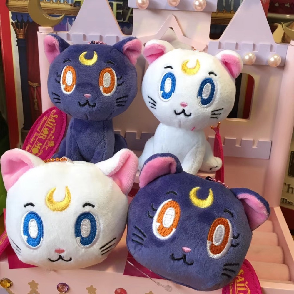 Childhood Anime Cartoon Japan Beautiful Girl Soldier Sailor Moon Kitty Luna Plush Doll Bag Pendant Plush And Stuffed Toys