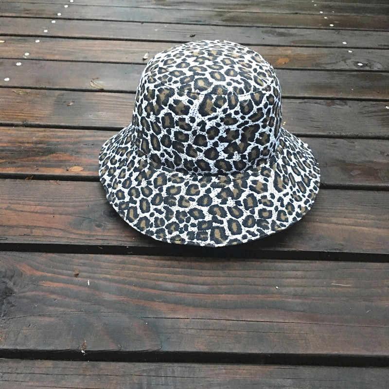 หมวกชาวประมงเสือดาวกลางแจ้งหมวก Sun Beach Boonie หญิงหมวก Cappello Pesca