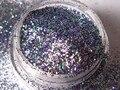 Устойчивы к воздействию растворителей изысканные фиолетовый зеленый и серебро блеск для франкен лак для ногтей питания Resing ювелирные изделия лосьон G342