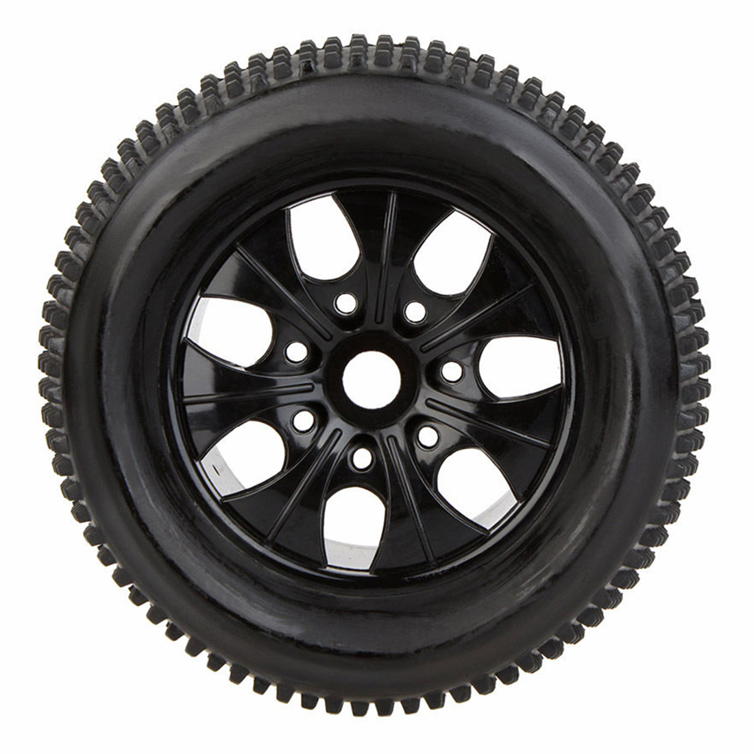 2Pcs RC 1/8 Car Wheel Rim and Tire 810011 fr Traxxas HSP Tamiya HPI RC Car 4pcs wheel rim tire set for 1 10 rc monster truck traxxas himoto hsp hpi tamiya kyosho remote control toy car 1 10 tyre parts