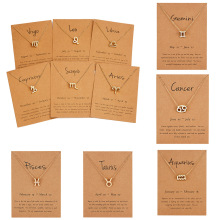 12 знаков зодиака Созвездия подвески ожерелья для женщин мужчин и женщин мужские золотые цветные ожерелья ювелирные изделия Модные подарки на день рождения