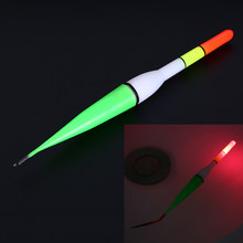Plastic Floater Vertical Buoy Fishing Luminous Float Battery Operated LED Float For Dark Water Night Fishing(China)