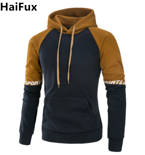 Men's Clothing Haifux Brand 2018 Hoodie New Spell Color Hip Hop Hoodies Men Fashion Tracksuit Male Sweatshirt Hoody Mens Purpose Tour Xxxl To Win Warm Praise From Customers
