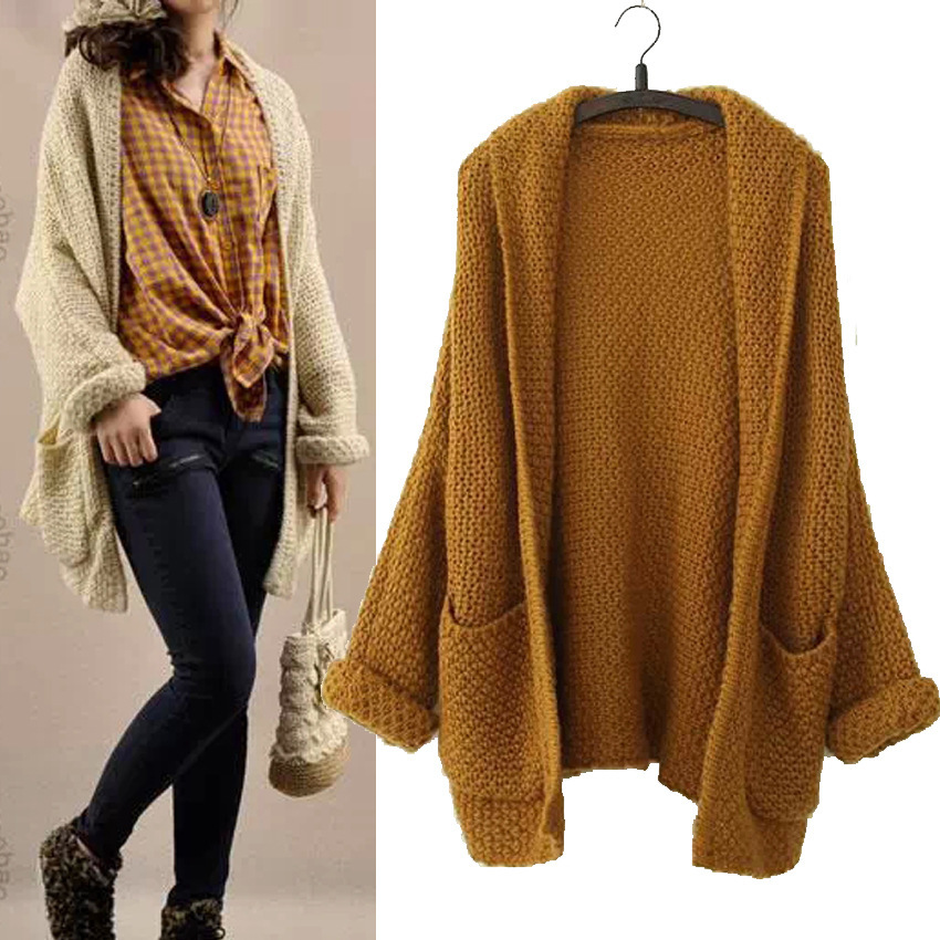 High Quality New 2014 New Knitting Cardigans With Pocket Thicken ...