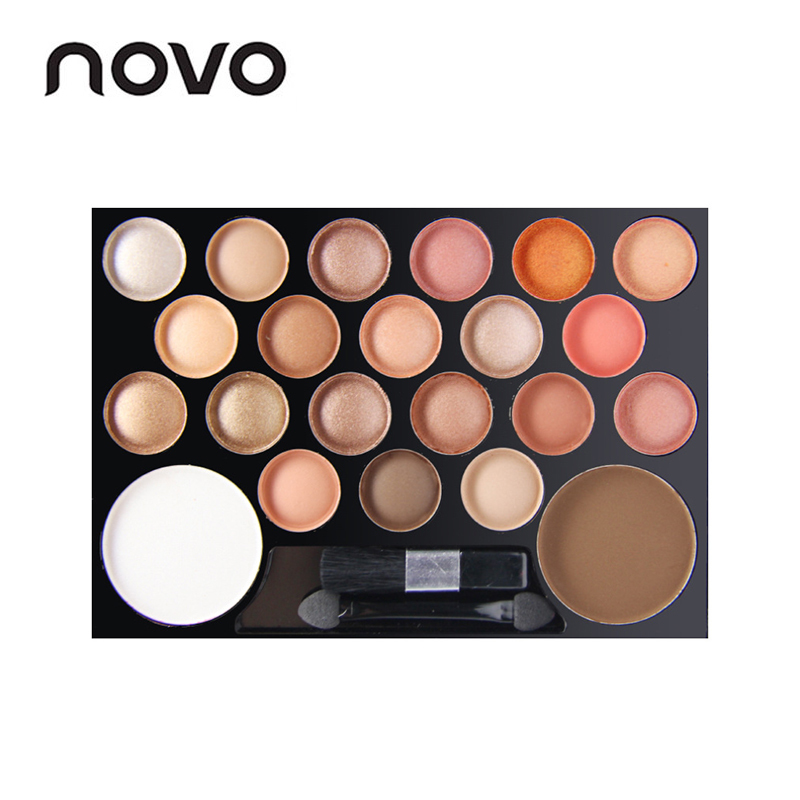 NOVO Brand 20 Colours Eye Shadow + 2 Colors Chheek Rouge Makeup Pallette Kit Professional Make Up Palette Set