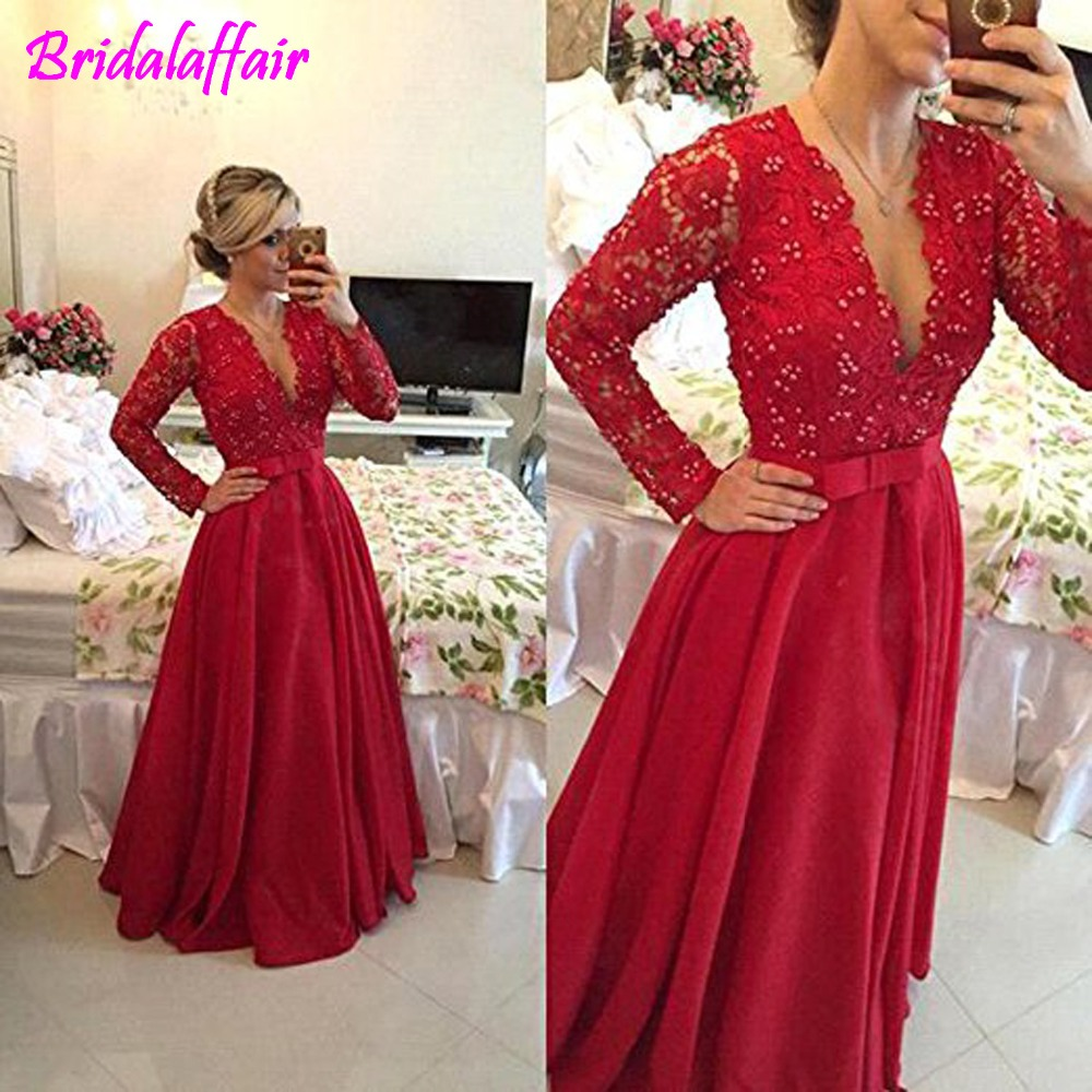 d6054014e764b US $107.92 24% OFF|Beaded Lace Appliques Pearls Tulle Juniors Prom Evening  Party Dresses Gowns robe de soiree long black dress formal-in Prom Dresses  ...
