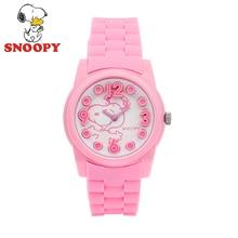 2017 Snoopy Kids Reloj Niños Reloj Relojes de pulsera de Cuarzo de Moda Casual Lindo Niñas Deportes Resistente Al Agua