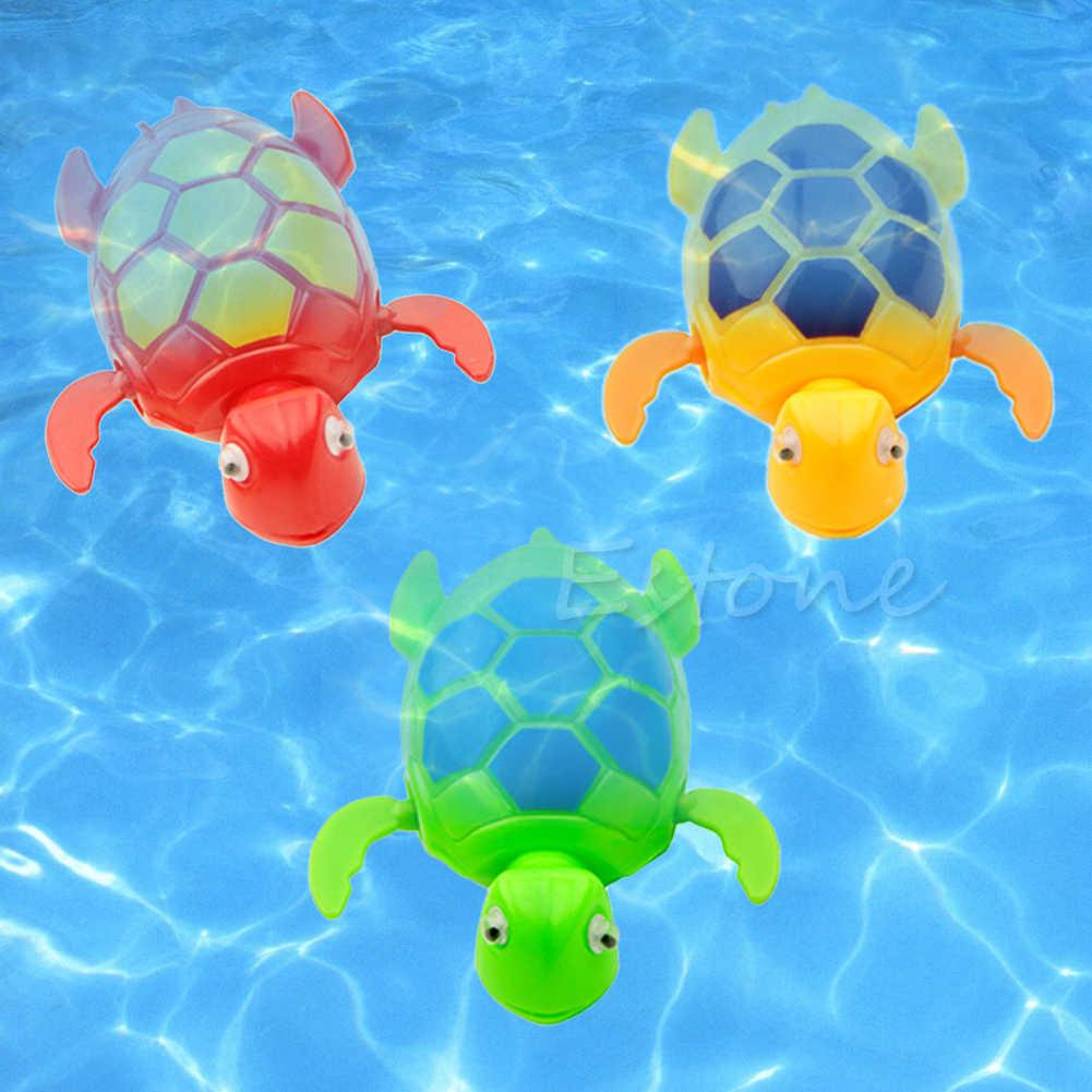 เด็กใหม่เด็กเด็ก Wind Up ว่ายน้ำสัตว์ลอยเต่าสระว่ายน้ำเวลาอาบน้ำของเล่น