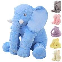 65cm Large Plush Elephant Doll Toy Cute Stuffed Elephant Baby Sleep Accompany Doll Height Kids Sleep Back Cushion Birthday Gift