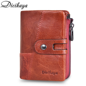 Image 2 - DICIHAYA NEW 2020 Genuine Leather Women Wallet Samll Women Leather Wallets Brand Coins Purse Red COW Leather Wallets Card Holder