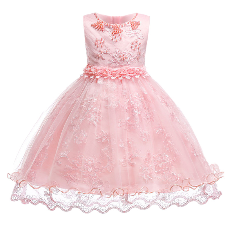 Kid Dress Pageant Wedding Bridesmaid Ball Gown for Girls Princess Birthday Party