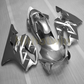 Custom motorcycle cowl for CBR600F4 1999-2000 CBR 600 F4 ABS Fairing body kit+Screws+Injection mold silver