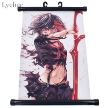 Anime KILL la KILL Scroll Painting Wall Hanging Canvas Poster Home Decor
