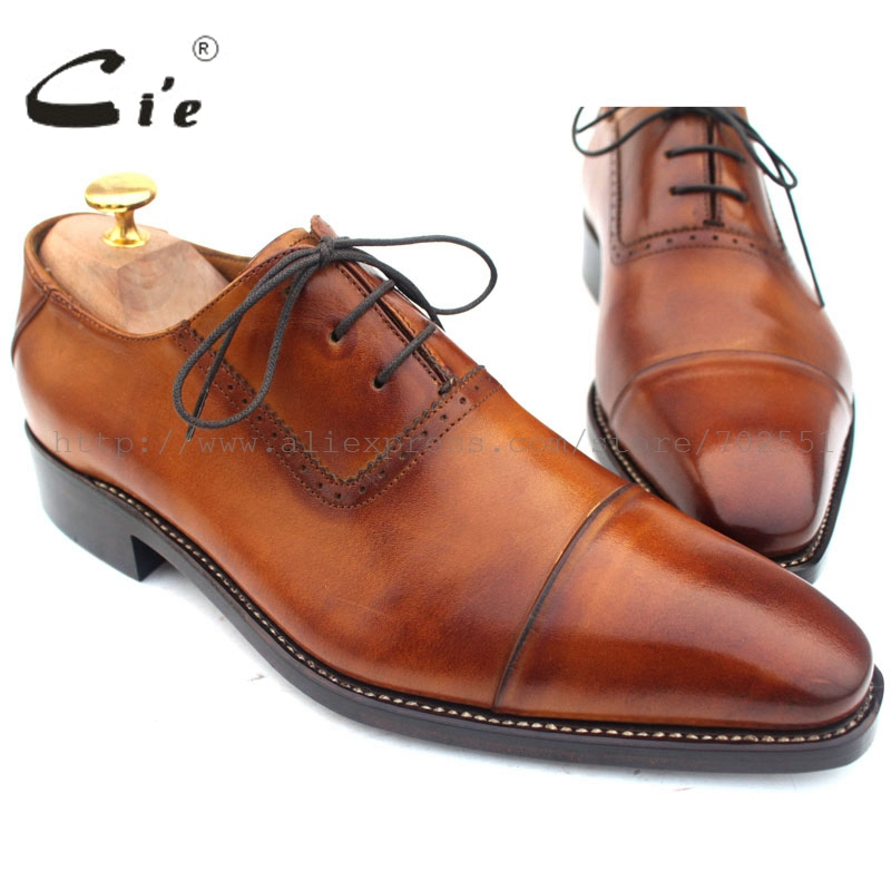 cie Pointed Cap Toe Lace-Up Patina Brown 100%Genuine Men Shoes Calf Leather UpperInsole/Outsole Breathable OX211 GOODYEAR Welted наборы для чаепития pavone чайный н р на 6 перс дольче вита pavone