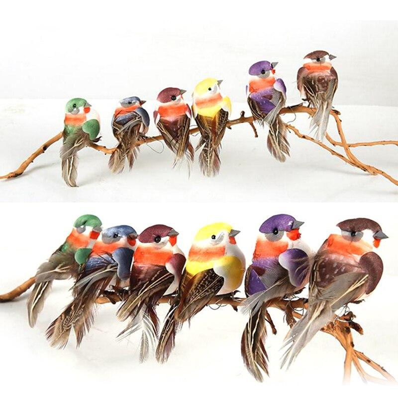 Mini Fake Birds Artificial Feather Foam Doves Wedding Decoration Venue Ornament