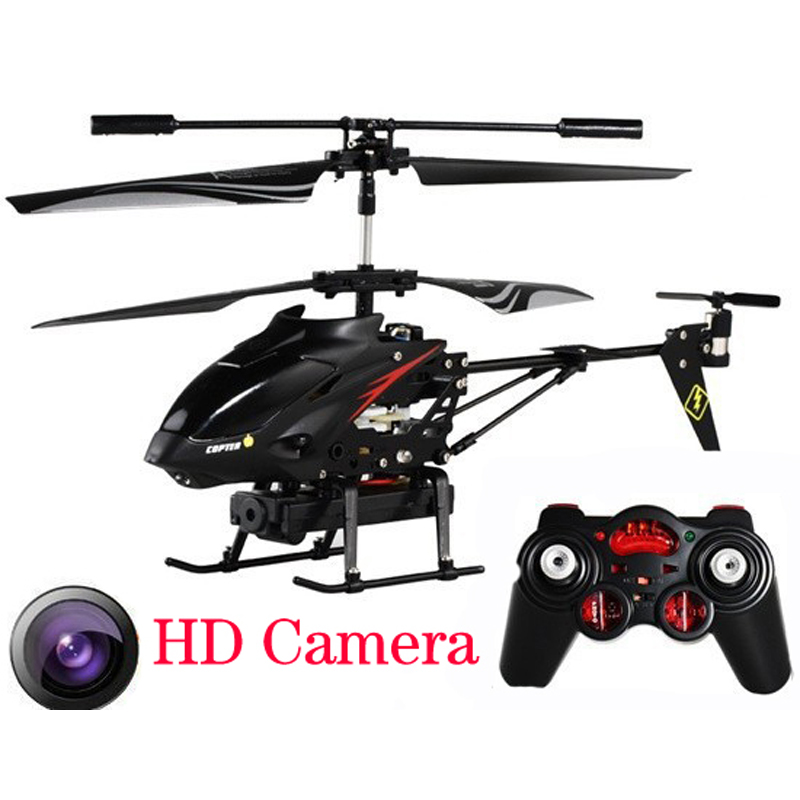 Black 3.5 CH RC Helicopter with 0.3MP camera Drone with HD Camera Remote Control Boy toys Helicoptero Electronic toys quadcopter x6 2 4g 4 ch remote control quadcopter toy with lcd screen white black
