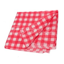 1pc Disposable Red Gingham Tablecloth Check Oil Cloth