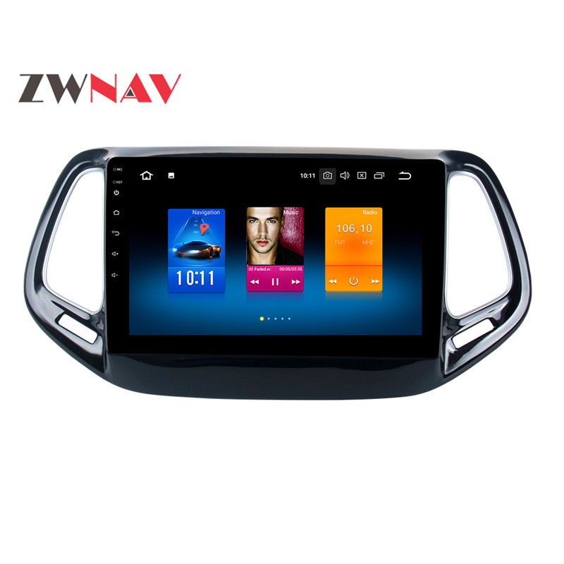 Excellent IPS Newest Octa Core Android 8.0 Quad Core 7.1 Car No DVD Player Multimedia Stereo GPS Car Radio Headunit For Jeep Compass 2017 7