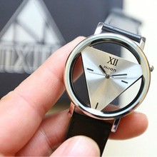 Hot 1 Pc Leather Band Stainless Steel Sport Analog Quartz Wo
